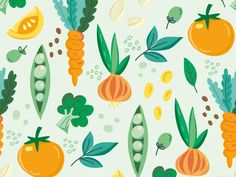 Vegetable Pattern Green