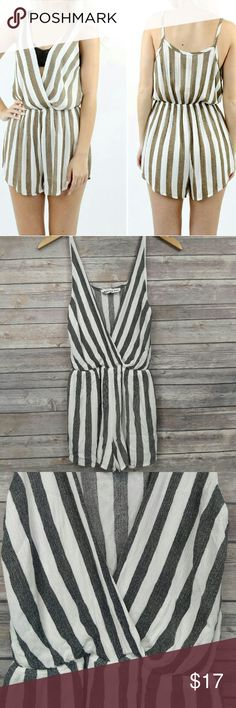 Audrey 3+1 striped romper - Soft gauze material romper (shorts on bottom) - No size listed but I would say it's a small - Armpit to armpit: 20 in, keep in mind this should fit loosely so I would say a 34 inch bust would be a good fit - Waist: this elastic band stretches from 12 in - 20 in MAX, a 26 inch waist would be a good fit - Cover shot is for visual reference, this color is GRAY Audrey 3+1 Dresses