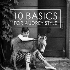 10 Fall Basics For Easy Audrey Hepburn Style.  Love her style...black flats, stripes and cigarette pants.