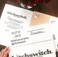 Name change before the weekend hits. Thanks for the  @mpaciaradford! #HitchSwitch #claimyourname #regram