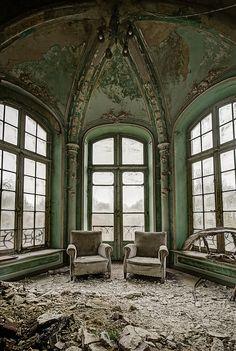 abandoned interior in Belgium