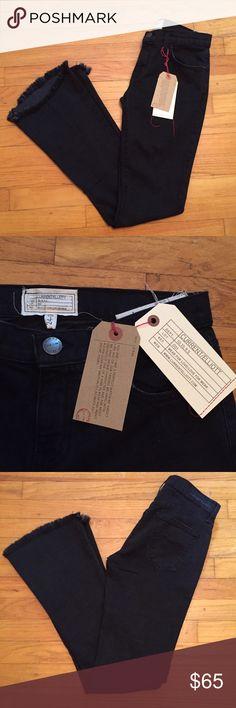 Current/Elliot sz 24 flip flop black bootcut jeans New with tags Current/Elliott Jeans Boot Cut
