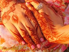 Visiting Pakistan and getting traditional henna was the best time!
