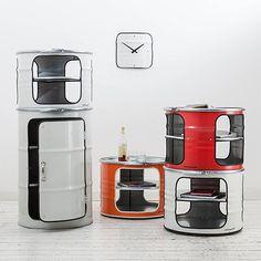 Casa ideias dzine Craft | Tambores de petróleo transformou-se em armários
