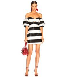 89fc387d49d Caroline Constas Titos Dress in Black   White