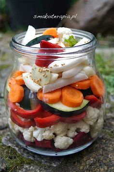 smakoterapia: KISZONE WARZYWA :D Fruit Recipes, Vegan Recipes, Slow Food, Fermented Foods, Canning Recipes, Creative Food, Easy Cooking, No Cook Meals, Food And Drink