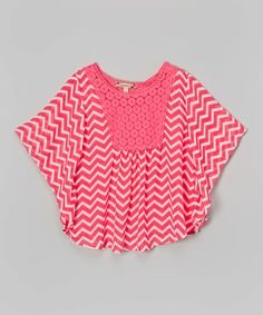 Look at this Speechless Fuchsia Chevron Circle Top on #zulily today!