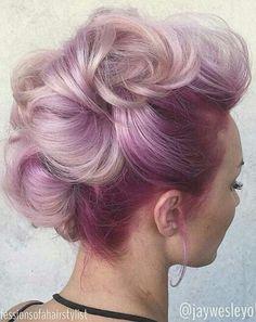 Pink updo dyed hair @jaywesleyolson @nakman1