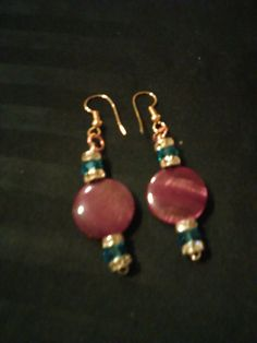 Check out this item in my Etsy shop https://www.etsy.com/listing/386498448/aqua-purple-drop-earings