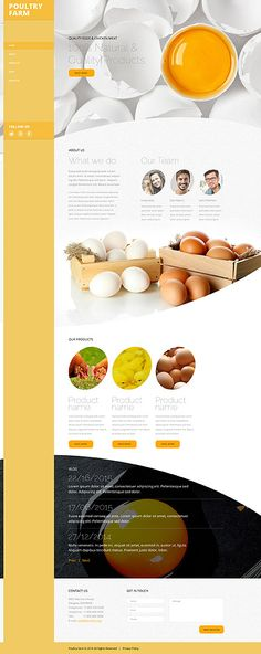 Template 58532 - Ponltry Farm  Responsive Website Template