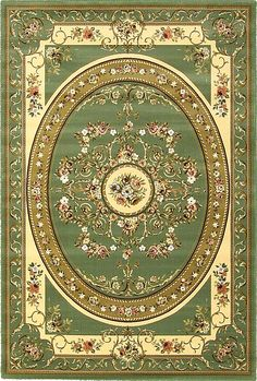 7 x 10 Green Classic Aubusson Area Rugs Interior Rugs, Home Interior Design, Aubusson Rugs, Classic Image, Carpet Design, Diy Dollhouse, Miniture Things, Rugs On Carpet, Paper Dolls