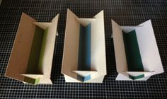 An army of troughs - How to make collapsible punching trough by Big Jump Press Bookbinding Tools, Bookbinding Tutorial, Handmade Journals, Handmade Books, Handmade Rugs, Handmade Crafts, Paper Art, Paper Crafts, Cut Paper