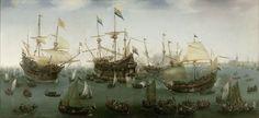 Hendrik Cornelisz. Vroom - De terugkomst in Amsterdam van de tweede expeditie naar Oost-Indië (1599)