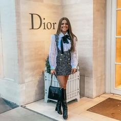 Paris Outfits, Preppy Outfits, Winter Fashion Outfits, Mode Outfits, Girly Outfits, Preppy Style, Classy Outfits, Look Fashion, Stylish Outfits