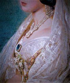 Portrait of Queen Victoria Oil Painting Pictures, Pictures To Paint, Classic Paintings, Old Paintings, Queen Victoria Prince Albert, Renaissance, Famous Art, Detail Art, Victorian Jewelry