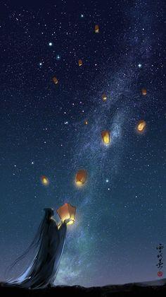 by xuedaixun Wonderful whimsical fantasy landscape art Fantasy Anime, Art Carte, Art Asiatique, Scenery Wallpaper, Fantasy Landscape, Landscape Art, Anime Scenery, Animes Wallpapers, Anime Art Girl
