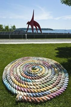 "Seattle's Olympic Sculpture Park featured Nicholas Nyland's ""Flemish Lines"" (2011)"