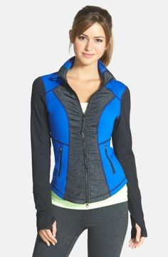 Free shipping and returns on Zella 'Essential' Jacket at Nordstrom.com. Ruched panels sculpt the curve-following silhouette of a performance-minded jacket that zips to a tall stand collar to keep cold at bay. Strategic mesh and stretchy, moisture-wicking construction are engineered to keep you cool and focused during al fresco workouts.