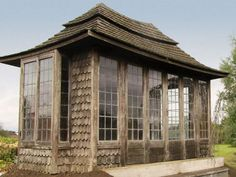 antique wooden summerhouse -- would rather have something like this for a guest house rather than a silo.