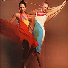 With the Supreme Court today declaring same sex marriage legal in all 50 states (Yay!), my post for @ShrimptonCouture's #Curated blog this week seems especially timely as it focuses on the rainbow-laden designs of Stephen Burrows. Shot by Tracy for Playgirl, March 1974, they are the perfect clothes to celebrate today's good news and Pride this weekend!