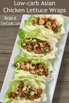 Low-carb Asian Chicken Lettuce Wraps are a delicious meal for two. They are packed with a ton of flavor and fun to eat if you enjoy hand held food! This recipe calls for ground chicken but can be swapped with ground turkey or ground beef. This dish is easy and quick, ready in less than 20 minutes. #AsianFood #LettuceWraps #chicken #wraps #DinnerForTwo #RecipesForTwo #DateNight #LowCarb Healthy Mexican Recipes, Easy Asian Recipes, Wrap Recipes, Easy Dinner Recipes, Appetizer Recipes, Breakfast Recipes, Party Recipes, Egg Recipes, Kitchen Recipes