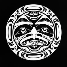 Full Moon limited Edition Print by Andy Everson a local Native Artist from K& First Nation. This is a beautiful Native Print featuring The Native American full Moon