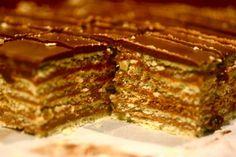 Madarice - sweet Croatian layered chocolate and nut dessert