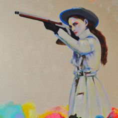 """I want to be this girl! """"Untitled (SPAGHETTI WESTERN I)"""" By """"Joshua Petker""""  on Artspace.com"""