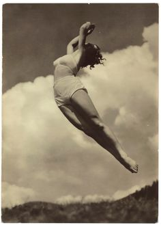 Photographer Unknown, Woman in Air Photograph | From a unique collection of antique and modern photography at https://www.1stdibs.com/furniture/wall-decorations/photography/