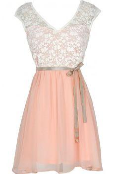 Cream + Blush Dress