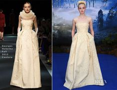 Elle Fanning In Georges Hobeika Couture – 'Maleficent' Private Reception