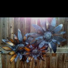 Image result for metal sunflowers