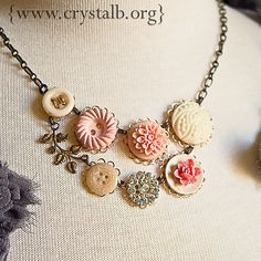 Very cool way to use vintage buttons