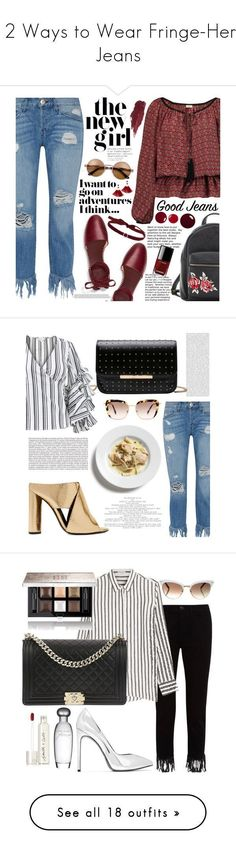 """""""12 Ways to Wear Fringe-Hem Jeans"""" by polyvore-editorial ❤ liked on Polyvore featuring waystowear, fringehemjeans, 3x1, Tory Burch, Talitha, Charlotte Russe, Lily Lolo, Chanel, Shashi and Miu Miu"""