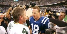 It is looking like Peyton manning may end up breaking Brett favre's all time touchdown record this weekend. Peyton needs 5 to tie and six to beat...