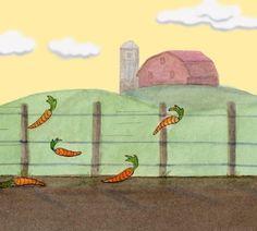 The Getaway Bunny Rabbit Car Carrot Farm Crime Art por SepiaLepus