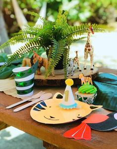Animal Themed Birthday Party, Jungle Theme Birthday, Safari Theme Party, First Birthday Party Themes, Birthday Themes For Boys, Wild One Birthday Party, Birthday Party Hats, 1st Boy Birthday, Zoo Party Themes