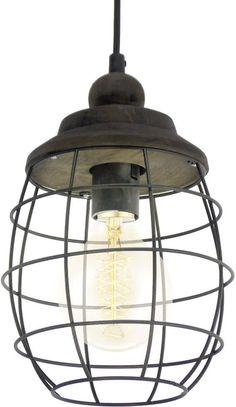 EGLO Vintage Bampton - Hanglamp - Ø180 - Patina Bruin