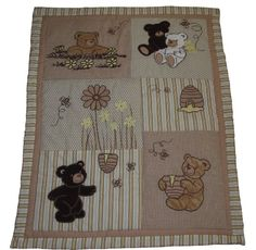 Amazon.com : SISI Baby Bedding - Bear and Bee 13 PCS Crib Bedding : Crib Bedding Sets : Baby