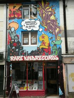 Brighton street art / graffiti: RareKind Records, Trafalgar Street, North Laine