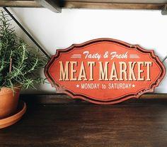 Meat Market Metal Sign