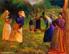 Camille Pissarro(1830ー1903)「Faneuses à Eragny」