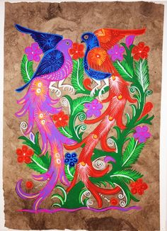 A personal favorite from my Etsy shop https://www.etsy.com/listing/262832109/mexican-amate-bark-painting-on-canvas