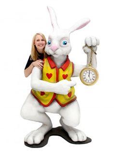 Event Prop Hire: Giant 3D Alice in Wonderland White Rabbit