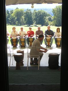 End hum-drum meetings with group drumming!  Sorry Berkshires, but this is the lamest of lame.