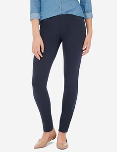 Five-pocket pant style with all the comfort of a stretch legging. Say hello to the pant you can pair with anything.