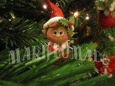trillino... polymerclay xmas cute elf. mariflomade.blogspot.it