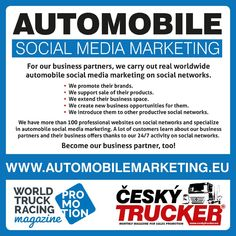 CZECH TRUCKER – a magazine for promoting sales of trucks and commercial vehicles - buses - delivery vans - trailers - municipal and handling equipment – container carriers - construction and. Online Advertising, Online Marketing, Social Media Marketing, Digital Marketing, Mobile Marketing, Semi Trucks, Mercedes Benz, Automobile Companies, Tata Motors
