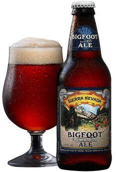 "Bigfoot Barleywine Style Ale, ""brimming with flavor from massive amounts of roasted malt and spicy hops and brewed in the barleywine style"". By Sierra Nevada Brewing Co, Chico CA (12oz, 9.6%) February 2014"