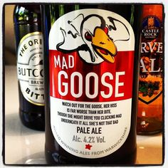 Purity Brewing Co Mad Goose Pale Ale - 4.2% ABV - Maris Otter, Caragold and Wheat Malt with Hallertau bittering hops and Cascade and Willamette hops for aroma. Light copper colour with great hop character and citrus overtones